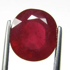 SPECTACULAR  8.98 CT NATURAL OVAL TOP RED MOGOK RUBY