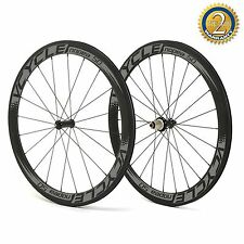 VCYCLE Nopea50 700C 50mm Intenso Tubolare Carbonio Ruote Only 1220g Bike Set