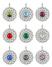 Sterling Silver Rivoli Pendants made with 1122 Crystals 14mm Swarovski® Crystals