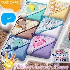 100% Terry Cotton Extra Large Baby Hooded Bath Towel LUXURY high absorbent 0m+