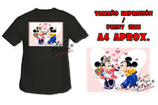 T-SHIRT MICKEY MINNIE AMORE LOVE AMOUR NERA tshirt custom es