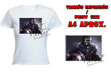 T-SHIRT DONNA DARK CAPITAN AMERICA SCURO tshirt custom es