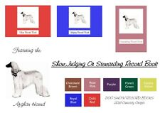 Afghan Hound Record Book: Show, Judging or Stewarding Dog Show