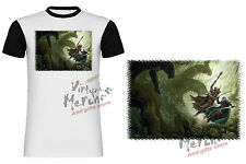 T-SHIRT DUNGEONS AND DRAGONS DRIZZT MANICHE NERE tshirt es