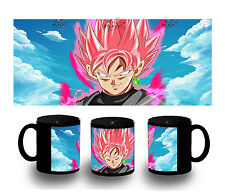 tazza NERA SUPER SAIYAN ROSE PINK DRAGON BALL BLACK MUG tazza tasse es