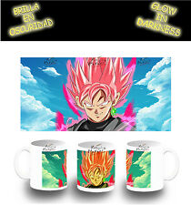 TAZZA SUPER SAIYAN ROSE PINK DRAGON BALL FOTOLUMINESCENTE glow mug tasse es