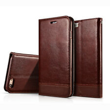 Genuine Leather Wallet Card Holder Flip Case Cover Stand For iPhone 6S