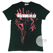 PRIMARK Official Mens THE WALKING DEAD BLOODY HANDS LOGO T Shirt