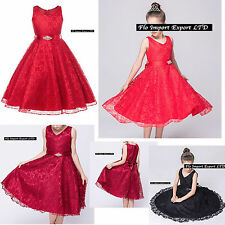 Vestito Bambina Abito Cerimonia Elegante Girl Party Princess Dress CDR057 RRVN