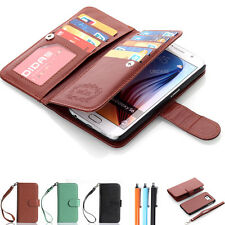Luxury Leather Flip Magnetic Wallet Card Case Cover For Samsung Galaxy