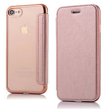 For iPhone 6 6s 7 / Plus  PU Leather Clear TPU Back Flip Wallet Card C