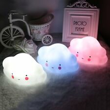 Cute Cloud Face LED Night Light Toy for Baby Kids Bedroom Home Decoration Lamp