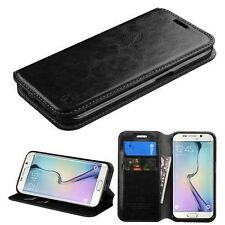For Samsung Galaxy S6 Edge + Plus Leather Flip Wallet Case Cover Stand