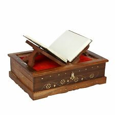 Icrafts Regal Wooden Folding Quran Bible Holy Book Reading Stand Holder, Home
