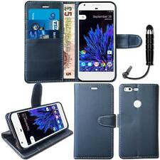Pu Leather Flip Wallet Case Cover Stand Folio For Google Pixel + Mini Stylus