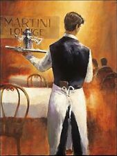 Brent Heighton : Martini Lounge Toile sur cadre toile serveur bar Vin