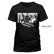 OFFICIAL GUARDIANS OF THE GALAXY VOL 2 - CHARACTERS SILVER FOIL BLACK T-SHIRT