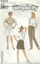 Simplicity 8506 Misses' Pants, Shorts and Skirt Size 8    Sewing Pattern