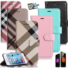 Hybrid Leather SLIM Wallet Card Flip Stand Case Cover for iPhone 7 6 /