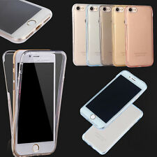 Shockproof 360° Silicone Protective Clear Case Cover For Apple iPhone