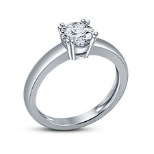 Amezing Solitare Ring For Women's In White Platinum Plated 925 Silver White CZ