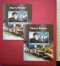 New Harry Potter daniel radcliffe 2016 CHAD Stamp Perf+Imperf Souvenir Sheet MNH