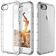 For Apple iPhone 7 Case Clear Hybrid Slim Shockproof Soft TPU Bumper C