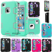 Slim Hybrid Rubber ShockProof Protective Hard Case Cover for iPhone 4