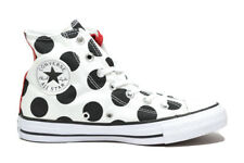 CONVERSE All Star hi sneakers bianco dots pois alte scarpe donna mod. 556815C