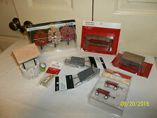 LOT OF MINI FURNITURE AND ACCESSORIES -- WISHING WELL, WHEEL BARROWS, PLUS MORE
