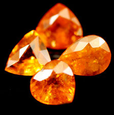 3.89 CT NATURAL! 4PCS FANTA ORANGE AFRICAN SPESSARTITE GARNET MIX SHAPE