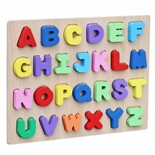 Wooden Colorful Alphabet English Letters Peg Puzzle Jigsaw Educational for Kids