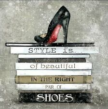 Carol Robinson: Style Is Toile sur cadre toile MODE NATURE MORTE chaussures