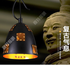 Adjustable Iron Terra Cotta Warrior Pendant Ceiling Lamp Light Home Cafe xh