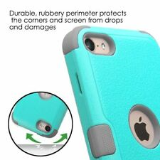 For Apple iPod Touch 5th 6th Gen Hybrid Rubber Protective Hard Case Cover TEAL