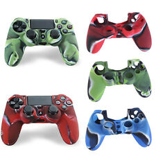 Camouflage Silicone Case Skin Grip Cover For Playstation 4 PS4 Controller BS