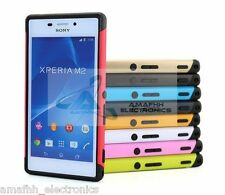 New Tough Armor Shockproof Hybrid Case Cover Skin for Sony Xperia M2 Dual Sim