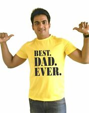 LetsFlaunt Best Dad Ever T-shirt Men's Yellow Dry-Fit Nw (LetsFlaunt-2953-NW)