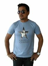 LetsFlaunt George Clooney T-shirt Men's Grey Dry-Fit Nw (LetsFlaunt-2977-NW)