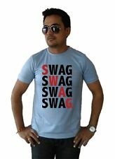 LetsFlaunt Swag Swag T-shirt Men's Grey Dry-Fit Nw (LetsFlaunt-3094-NW)