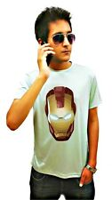 LetsFlaunt Ironman mask grey T-shirt Dry-Fit Nw (LetsFlaunt92-NW)