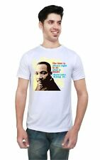 LetsFlaunt Martin Luther Slogan T-shirt Men's White Dry-Fit (LetsFlaunt-3131-NW)