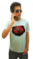 LetsFlaunt Spiderman Chest T-shirt Grey Dry-Fit Nw (LetsFlaunt-313-NW)