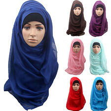 WOMEN COTTON MUSLIM ISLAMIC RAMADAN HIJAB LONG SCARF SHAWL WRAP HEADWEAR ORNATE