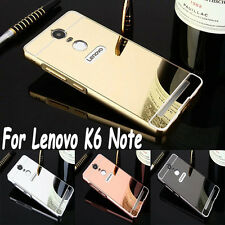 Luxury Aluminum Metal Bumper + Acrylic Mirror Back Cover Case For Lenovo K6 Note
