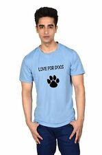 LetsFlaunt Love For Dogs T-shirt Men's Blue Dry-Fit Nw (LetsFlaunt-3671-NW)