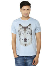 LetsFlaunt Wolf T-shirt Grey Men Dry-Fit Nw (LetsFlaunt-2113-NW)