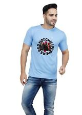 LetsFlaunt Red Hot Chilli Round Collage Men's T-shirt Blue (LetsFlaunt-21004)