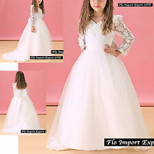 Vestito Damigella Comunione Abito Bambina Girl Party Bridesmaid Dress COM004