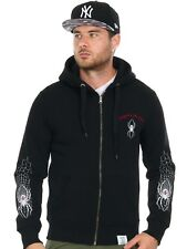 Sudadera con cremallera West Coast Choppers Spider Negro